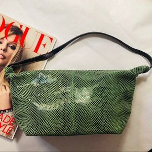 Marni Leather Zip-top Bag Green/Black Faux Python